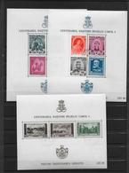 ROUMANIE - 1939 - BLOCS YVERT 3/5 OBLITERES - COTE = 21 EUR. - Blocs-feuillets