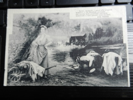 19543) FRASE ADA NEGRI LAVAI CANTANDO I PANNI AL FIUME LAVANDAIE VIAGGIATA 1915 BELLISSIMA - Filosofia & Pensatori