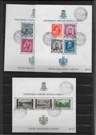 ROUMANIE - 1939 - BLOCS YVERT 3/5 OBLITERES - SONDERSTEMPEL - COTE = 21 EUR. - Blocs-feuillets
