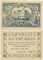 Ansfelden Bei Linz, 1 Schein Notgeld 1920, Ritzlhof, Österreich 20 Heller - Oesterreich