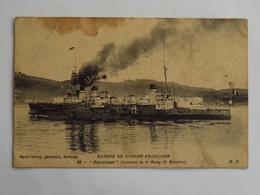 """C.P.A. : Marine De Guerre Française : """"République"""", Cuirassé De 1 Er Rang - Guerra"""