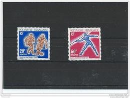 POLYNESIE 1963 - YT N° 22/23 NEUF SANS CHARNIERE ** (MNH) GOMME D'ORIGINE LUXE - Nuovi