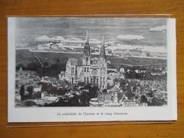 (1936)  Aédorome  De CHARTRES - Camp D'aviation  - Coupure De Presse Originale (Encart Photo) - Documents Historiques