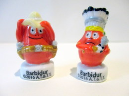 Fèves Brillantes  - Barbidur De Barbapapa Au Far West X 2 - 2016 - Characters