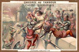 CHROMO CHICOREE AU TAMBOUR CASIEZ-BOURGEOIS CAMBRAI  JEANNE HACHETTE - Chromos