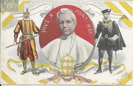 Cpa Pape Pie X, Garde Suisse - Popes
