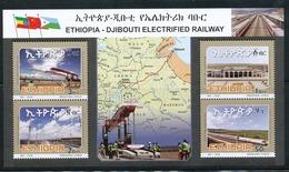 Ethiopia Ethiopie Äthiopien NEW ISSUE 2018 Minisheet MNH / ** Train - Ethiopia Djibouti Railway - Etiopía