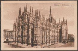 Il Duomo, Milano, Lombardia, C.1920 - Gustavo Modiano Cartolina - Milano (Milan)