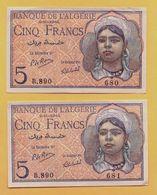 5 Francs Du 02 10 1944 - Pick 94b  SPL- NEUF - Algérie
