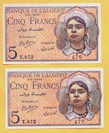 5 Francs Du 02 10 1944 - Pick 94b   NEUF - Algeria