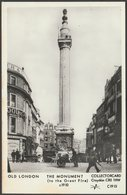 Monument To The Great Fire Of London In C.1910 - Collectorcard RP Postcard - London