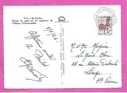 Carte Postale Type COQ  Obliteration Hexagone Tirets ST PIERRE De CURTILLE     1966 - Postmark Collection (Covers)