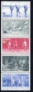 SWEDEN 1977 Fitness Sports Set In Strip MNH / **.  Michel 976-80 - Sweden