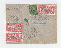Sur Enveloppe Quatre Timbre Haiti Dont Une Paire De 10 C. Tricent. Ratt. Antilles Françaises. CAD Petit Goave 1936.(790) - Haiti