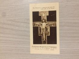 Santino Crocifisso Che Parlo' A S. Francesco - Images Religieuses
