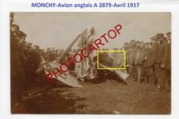 MONCHY-AVION Anglais-A2879-Avril 1917-Aviation-Fliegerei-Aircraft-CARTE PHOTO Allemande-Guerre 14-18-1 WK-62-MILITARIA- - 1914-1918: 1a Guerra