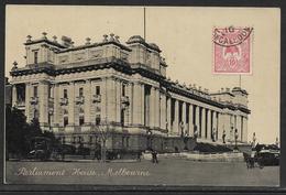 Carte Postale Ancienne De Parliament House - Melbourne,  VINTAGE POSTCARD OF PARLIAMENT HOUSE - MELBOURNE - Melbourne
