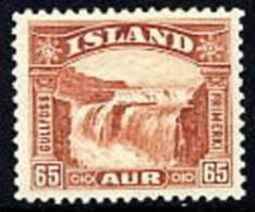ICELAND 1931 Gullfoss 65 A. MNH / **.  Michel 154 - 1918-1944 Autonomous Administration