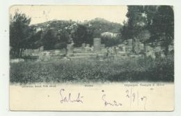 GRECIA - OLYMPIE TEMPLE D'HERA 1908 VIAGGIATA FP - Grecia