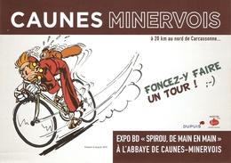 Spirou De Main En Main - Exposition BD 2018 à  L'abbaye De Caunes Minervois, France - 2 Docs Pub. - Autres Objets BD