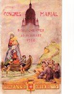 Congrès Marial.BOULOGNE-SUR-MER 20-24 Juillet 1938.Programme Officiel.64 Pages.bon état - Picardie - Nord-Pas-de-Calais