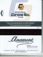 GRAN HOTEL CORONA SOL  SALAMANCA - Llave Clef Key Keycard Hotelkarte - Hotel Labels