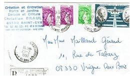 Lettre Recommandée De ST GEORGRES-LES- BAILLARGEAUX Du 25/2/1980 - N) 1969x2 - 1977 - PA 46 - Marcophilie (Lettres)