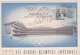 CORTINA 1956 VII GIOCHI OLIMPICI INVERNALI AUTENTICA 100% - Cartoline