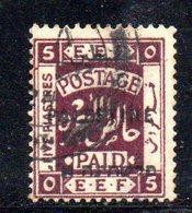 T1850 - PALESTINA , 5 Piastre Usato - Palestina