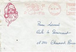 Lettre Du PERE NOELE De LIBOURNE Du 5/12/88 - Marcophilie (Lettres)