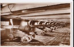 AL37 Lower Gun Deck, H.M.S. Victory, Portsmouth - RPPC - Portsmouth