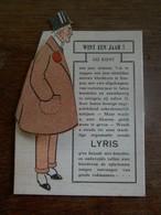 Oude Recklame      In Karton  LYRIS  SOTTEGEM - Artisanat