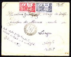 COTE FRANCAISE DES SOMALIS - COURRIER F.M.DU 3.10.41 DE DJIBOUTI A LOUGA - CANTON DE MERINA - VILLAGE DE SERIFE. - Lettres & Documents