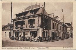 D37 -  SAINTE RADEGONDE PRES TOURS - Hôtel Restaurant DE LA COTE FLEURIE - Nombreuses Personnes à La Terrasse - Autres Communes