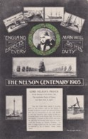 AQ89 People - The Nelson Centenary 1905 - Multiview Postcard - Historical Famous People