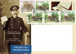 23A : Poland Architecture Building Stamps Used On Postman Postcard - 1944-.... République