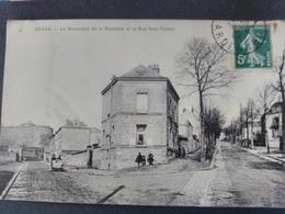 Sedan Boulevard De La Rochette Et La Rue Hue Tanton. Rare Carte. - Sedan