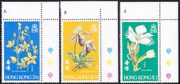 HONG KONG 1977 «Orchids, Flowers» - Complete MNH Set Mi# 341-43 - Orchideen