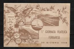 Italia 1948 1ª Jornada Filatelica De Ferrara - Italia