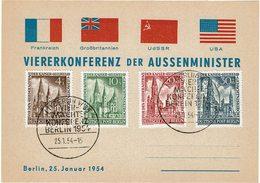 CTN54A- ALLEMAGNE CONFERENCE DE BERLIN 25/1/1954 - Covers & Documents