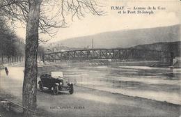 FUMAY. Avenue De La Gare Et Le Pont St Joseph. - Fumay