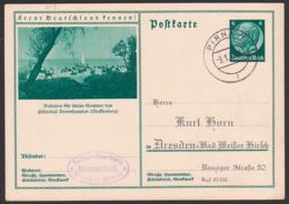 Deutsches Reich P232/21 Brunshaupten Strand Segelboot, Pirna Germany Picture-card - Postwaardestukken