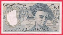 """50 Francs """"Quentin De La Tour"""" 1991----Série P.67----XF/SUP+-- AUCUN TROU D EPINGLE - 1962-1997 ''Francs''"""