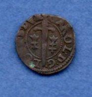 Lorraine  -  Double Denier  -  Charles IV --  état  TB +  - - 476-1789 Monnaies Seigneuriales