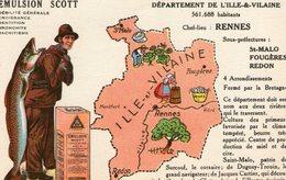 (80) CPA PUB  Emulsion Scott . Departement De L' Ille Et Vilaine - France