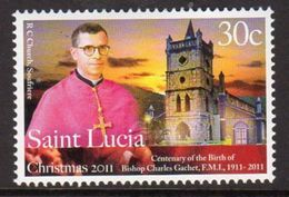 St. Lucia 2011 Christmas Bishop Gachet, MNH (SG 1408) - St.Lucia (1979-...)