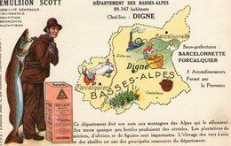 (80) CPA PUB  Emulsion Scott . Departement Des Basses Alpes - Autres Communes