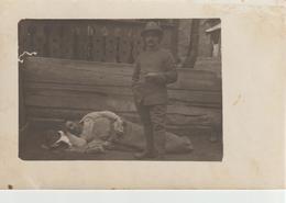 2-Cartolina Postale Fotografica Di Militari Italiani-Guerra 1915/18-Originale D' Epoca - Guerra 1914-18