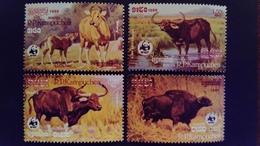 Kampuchea 1986 Animaux Animals Buffle Buffalo WWF Yvert 695-698 ** MNH - Kampuchea