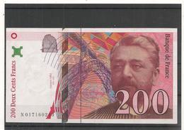 Billets - 200 Francs  Tour Eiffel  - 1996 - Alphabet N - TTB A SUP - Cote 25  Euros  - Billets° JPP - 1992-2000 Ultima Gama